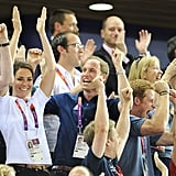 Kate Middleton, Prince William, and Prince Harry celebrated Team GB's big win.