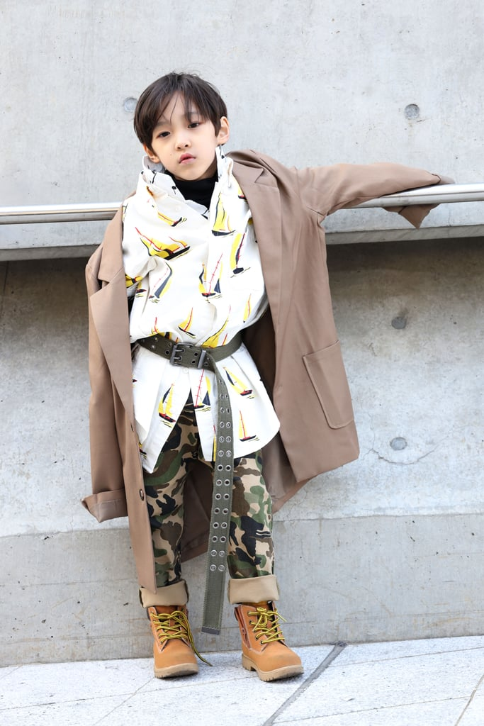 Mixing Multiple Prints? Why the Heck Not, Especially When You've Got This Kid's Confidence