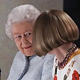 . . . but not even the Queen of England could get a peek behind Wintour's go-to black shades.