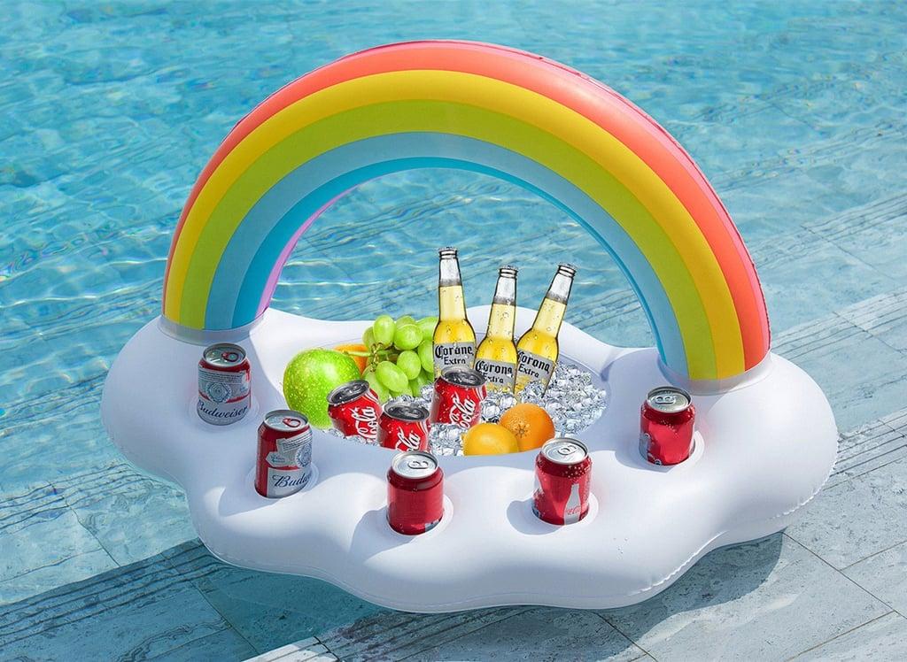 Inflatable Rainbow Cloud Drink Holder