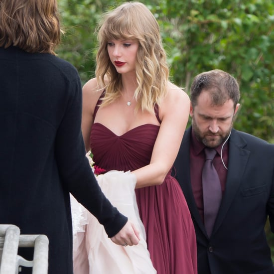 Taylor Swift's Maroon Bridesmaid Dress