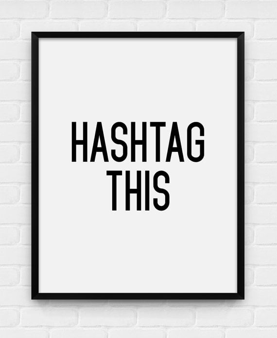 how to write a hashtag on facebook
