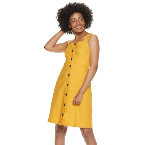 POPSUGAR Button Up Midi Dress