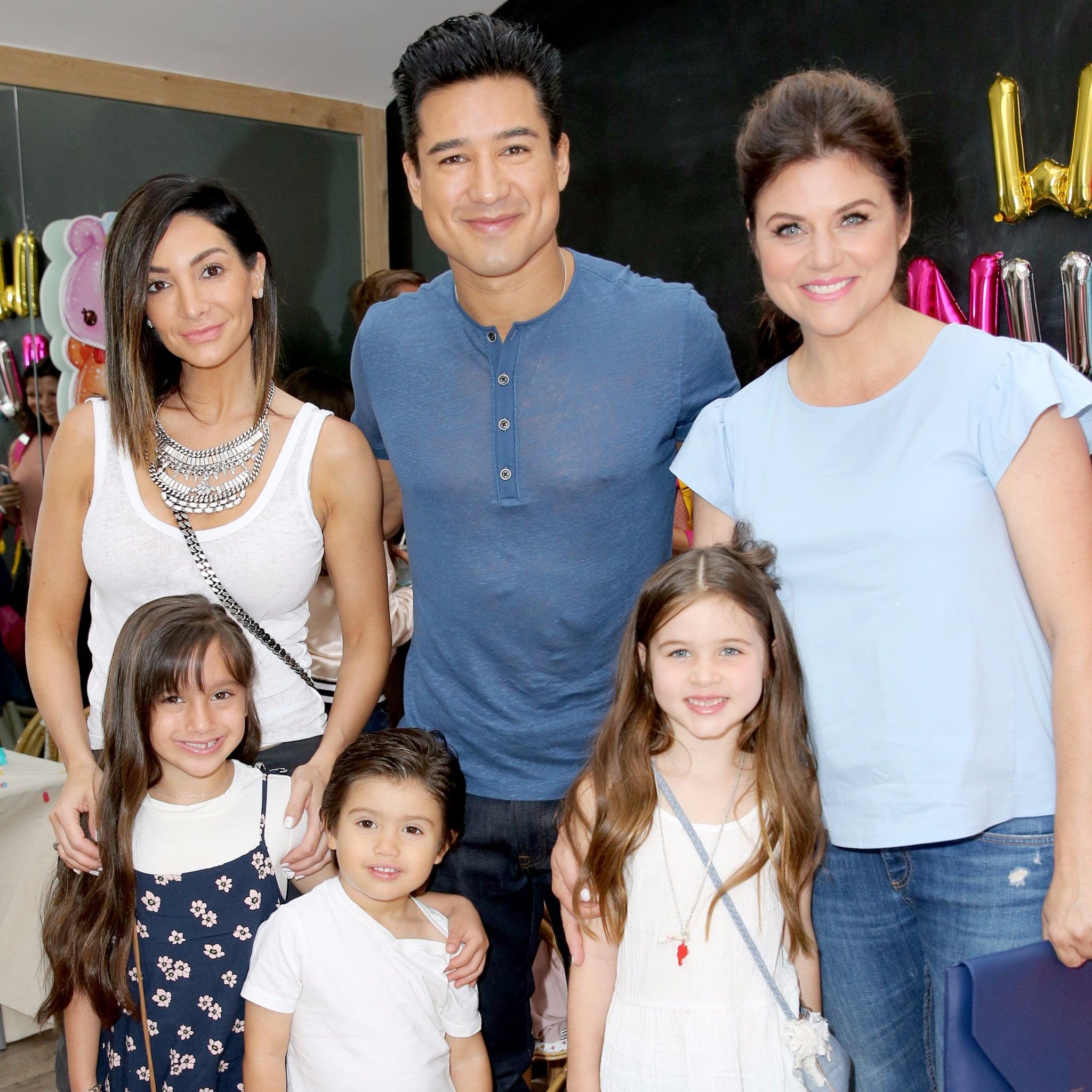 Tiffani Thiessen And Mario Lopez With Their Kids July 2017