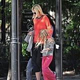 Gwyneth Paltrow and Apple Martin arrived at a NYC playground.