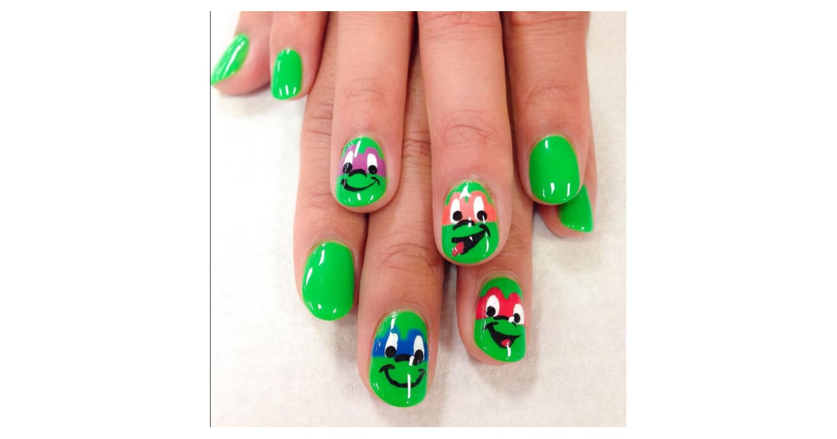 Ninja Turtle Nails | Cartoon Nail Art Ideas | POPSUGAR Beauty Photo 18