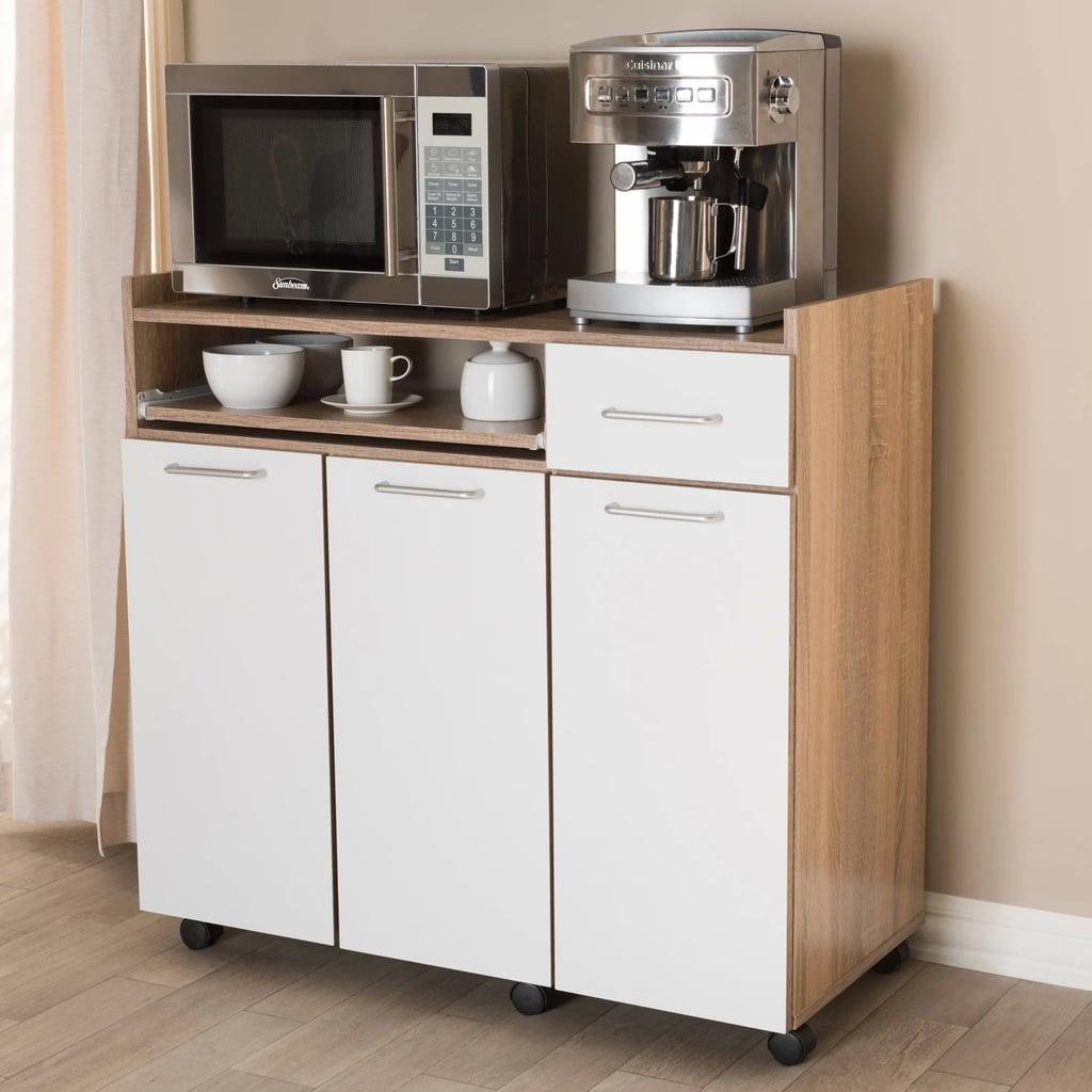 Light Oak and Finish Kitchen Cabinet