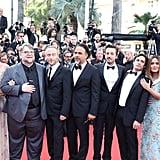 Pictured: Alfonso Cuarón, Sheherazae Goldsmith, Guillermo del Toro, Emmanuel Lubezki, Alejandro González Iñarritu, Diego Luna, Gael García Bernal, Salma Hayek, and Francois-Henri Pinault.