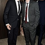 Dan Stevens and Eddie Redmayne posed together at a Burberry cocktail party back in June 2012.