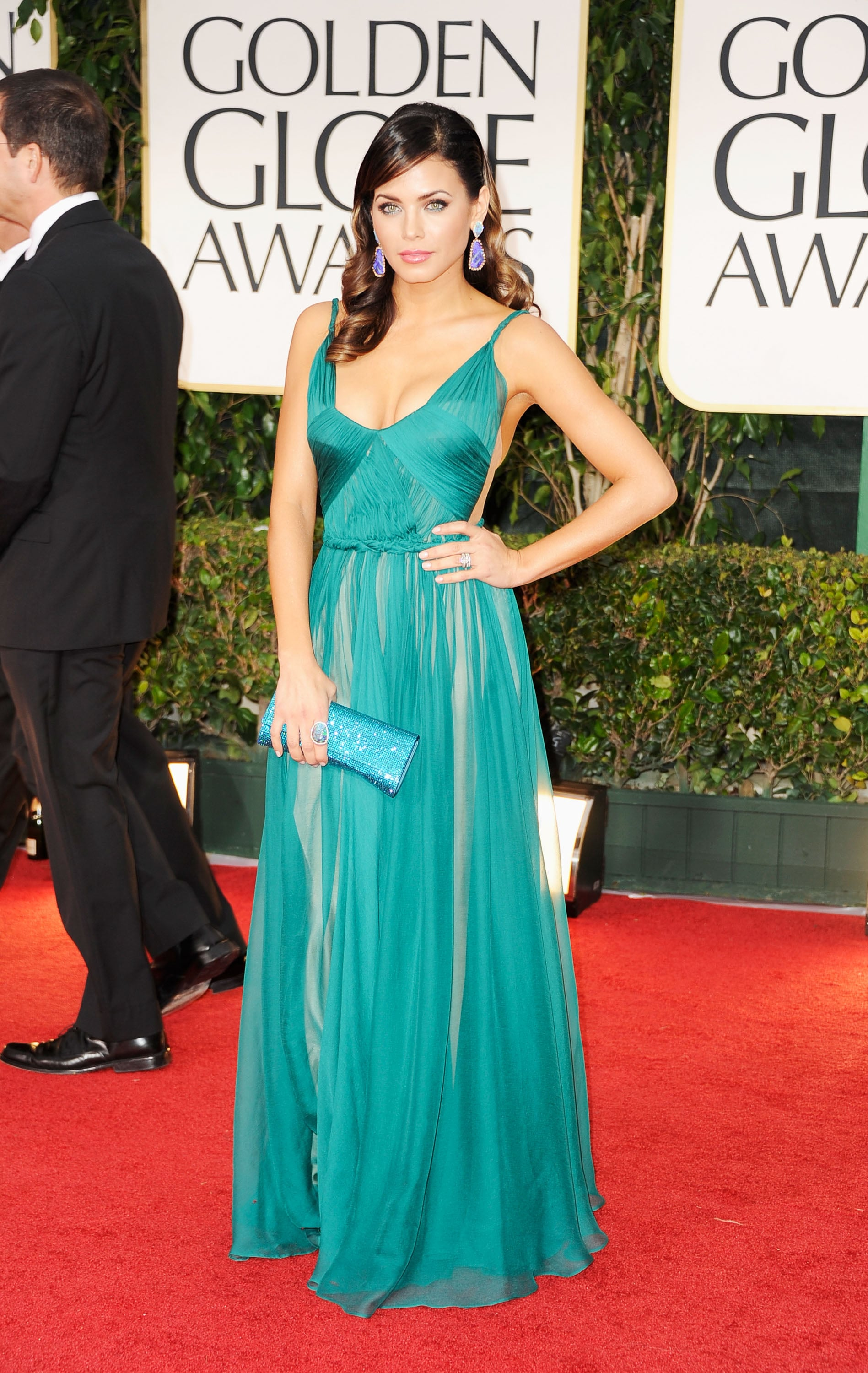 Jenna Dewan in Maria Lucia Hohan at the Golden Globes.