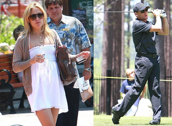 Photos of Lance Armstrong and Kate Hudson Golfing in Tahoe