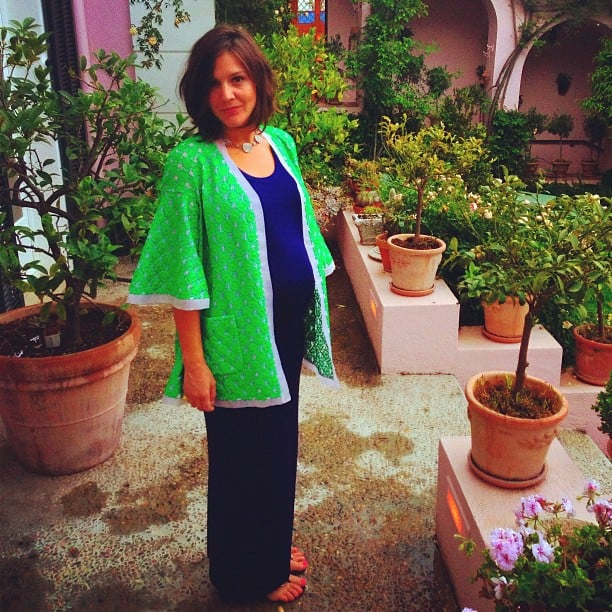 Margherita Missoni looked adorable while showing off her growing baby bump in colorful separates. Source: Instagram user mmmargherita