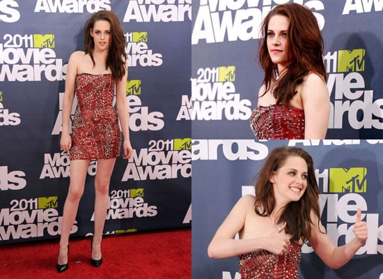 Pictures of Kristen Stewart's 2011 MTV Movie Awards Balmain Dress From All Angles