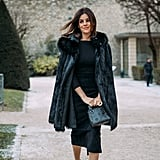 Julia Restoin Roitfeld shows us ladylike staples like a sheath dress and pointed pumps will never go out of style.