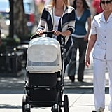 Ivanka Trump walks with Arabella Kushner.