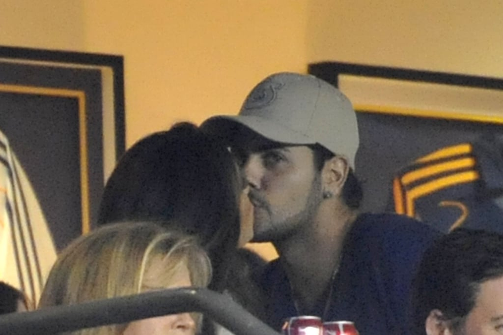 Eduardo Cruz and Eva Longoria kissed at a soccer game in LA.