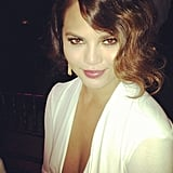 Chrissy Teigen tried on a '20s-chic look for the amfAR Gala. Source: Instagram user chrissy_teigen