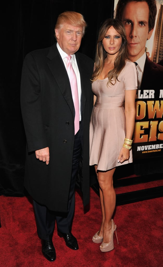 Donald Trump was joined by his wife, Melania, for movie night.