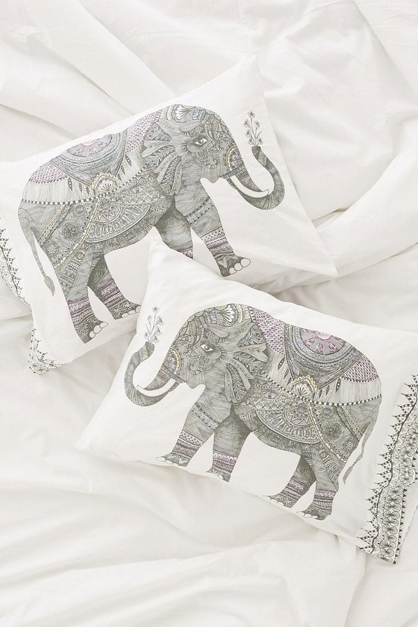 Magical Thinking Garden Elephant Pillowcase Set ($49)