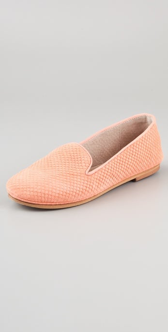 These peach-toned loafers are a pretty spin on the menswear trend.  French Sole Fs/ny Drama Suede Loafers ($150)
