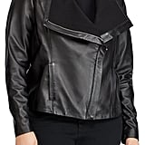 Lauren Ralph Lauren Drape Front Leather Jacket