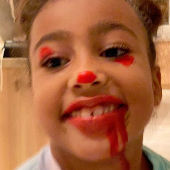 North West Gave Her Siblings Messy Pennywise Makeovers