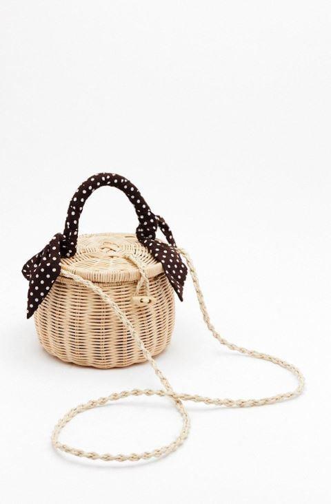 Nasty Gal x Natasha Oakley WANT Picnic By the Pool Basket Crossbody Bag ($60, $100)