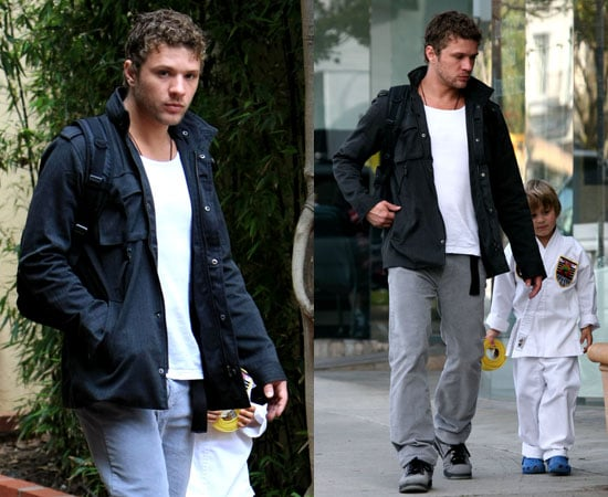 Photos of Ryan Phillippe Picking Up His Son Deacon From Karate Class