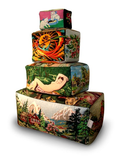Crave Worthy: Frédérique Morrel Tapestry Poufs