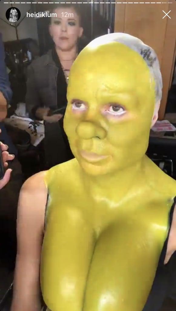 Heidi Klum Shrek Halloween Costume 2018 | POPSUGAR