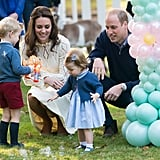 Kate loved watching Charlotte and George enjoy bubbles.