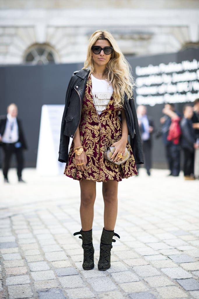 Work A Little Brocade Into Your Daily Mix On A Pretty Dress Like This Best Winter Street Style