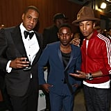 Jay Z and Pharrell posed with Kendrick Lamar.