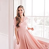 Gal Meets Glam Collection Edith City Crepe Fit & Flare Midi Dress