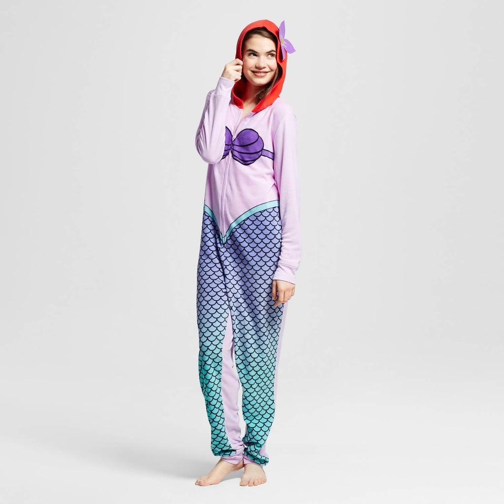 Women's Disney Ariel Hooded Union Suit Pajamas ($28)