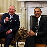 Prince Charles and the president enjoyed a chat in the Oval Office in March 2015.