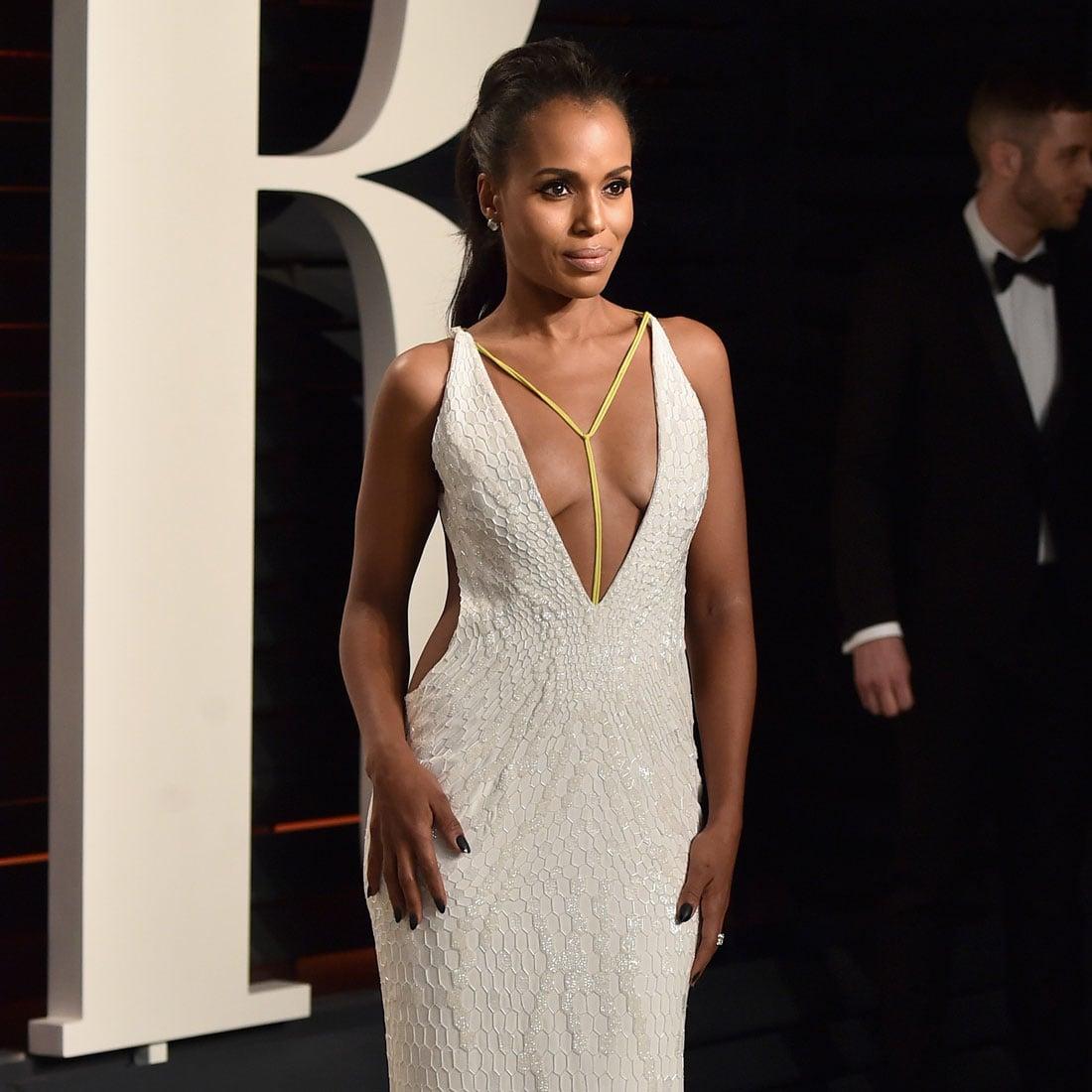 Kerry Washington\'s Dress at Vanity Fair Oscars Party 2016 | POPSUGAR ...
