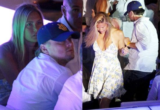 Pictures of Leonardo DiCaprio and Bar Rafaeli