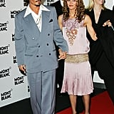 In April 2006, Johnny Depp and Vanessa Paradis attended a party in Geneva, Switzerland.