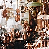 """""""Found this incredible antique store in Galma Stan that was filled with copper ware. Debated taking it all home but took this photo instead."""""""
