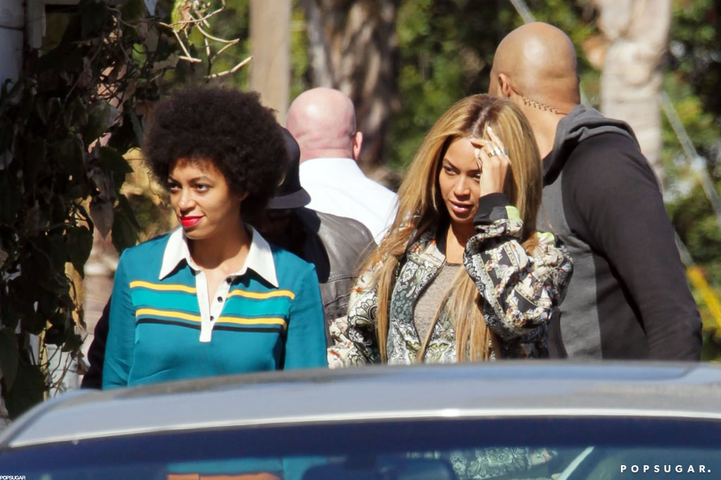 Solange Knowles and Beyonce Knowles spent time together in LA.