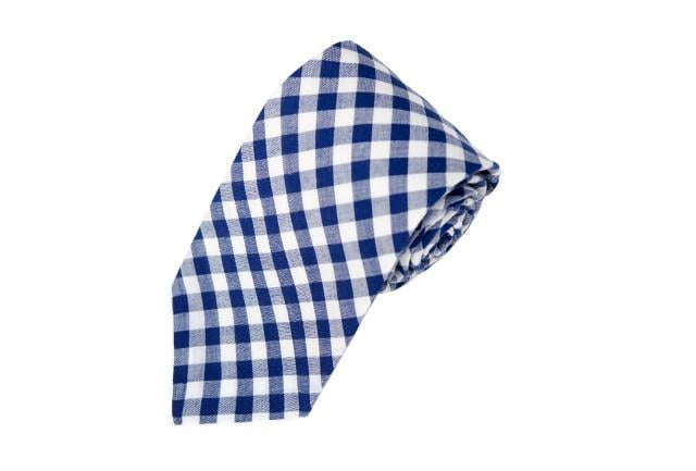 Navy Gingham Necktie