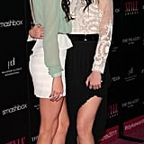 Jenner sisters Kendall and Kylie posed for photos.