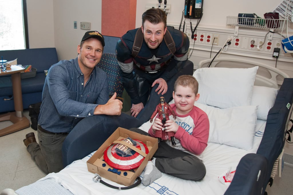 Chris Pratt and Chris Evans at Seattle Children's Hospital