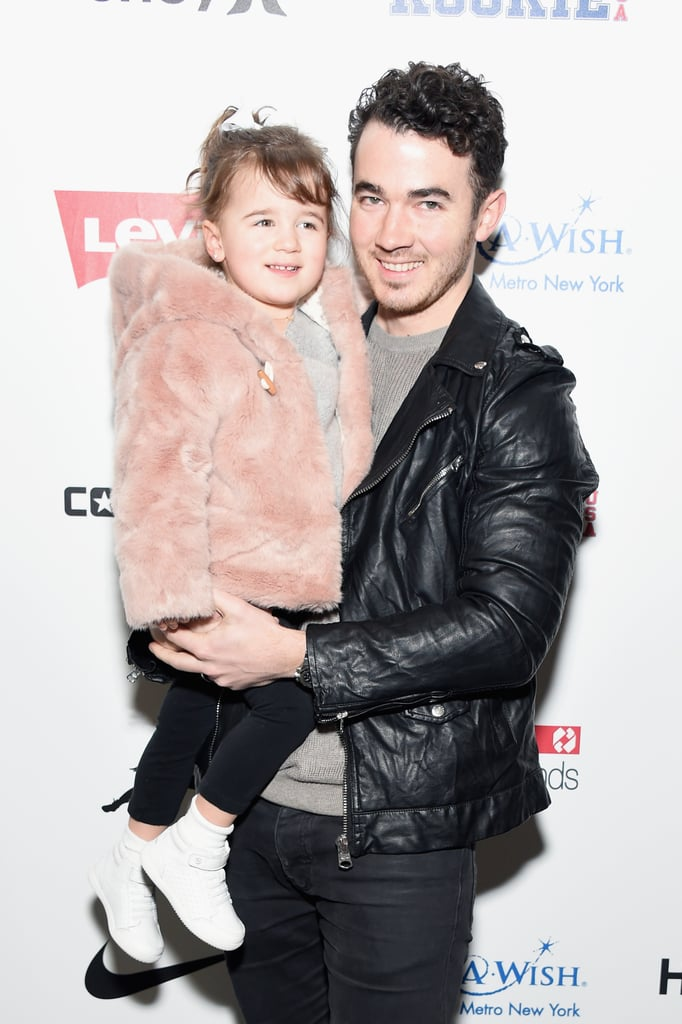"""In case you had any doubts, Kevin Jonas has some ridiculously cute kids. On Wednesday, the proud dad attended the Rookie USA show during New York Fashion Week with his 3-year-old daughter, Alena. The duo struck some adorable poses on the red carpet and even shared a high five before heading inside to watch the show. Kevin posted a photo from their outing on Instagram, writing, """"Alena's first fashion show #daddydate."""" Sadly, his youngest daughter, Valentina, didn't join them — perhaps she stayed home with her mom, Danielle?      Related:                                                                Kevin Jonas Definitely Caught the Love Bug When He Met Wife Danielle                                                                   Look Back at All the Jonas Brothers' Past Loves"""