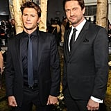 Scott Eastwood and Gerard Butler made handsome pals at the Boss event on Wednesday.