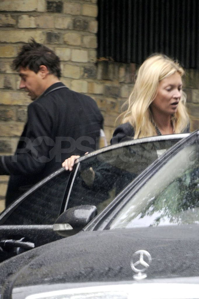 Kate Moss and Jamie Hince returned to their London home yesterday after a weekend getaway. It was the second jaunt out of town for the couple following their wedding on July 1. They spent just under two weeks on a Mediterranean honeymoon, and returned to London in the middle of the month to rapidly resume their demanding social schedule. Kate Moss and Jamie Hince hugged and kissed Thursday during an art party, which came after a series of dinner dates with friends.