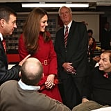 Kate Middleton and Prince William at Cardiff Rugby Game