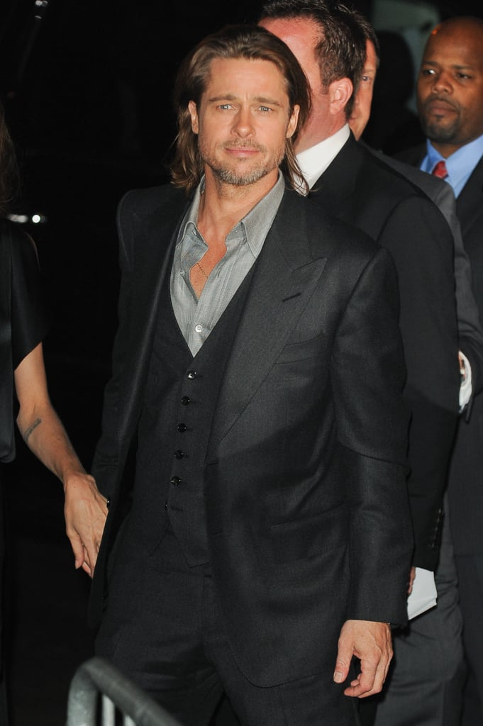Brad Pitt made his way to the In the Land of Blood and Honey afterparty.