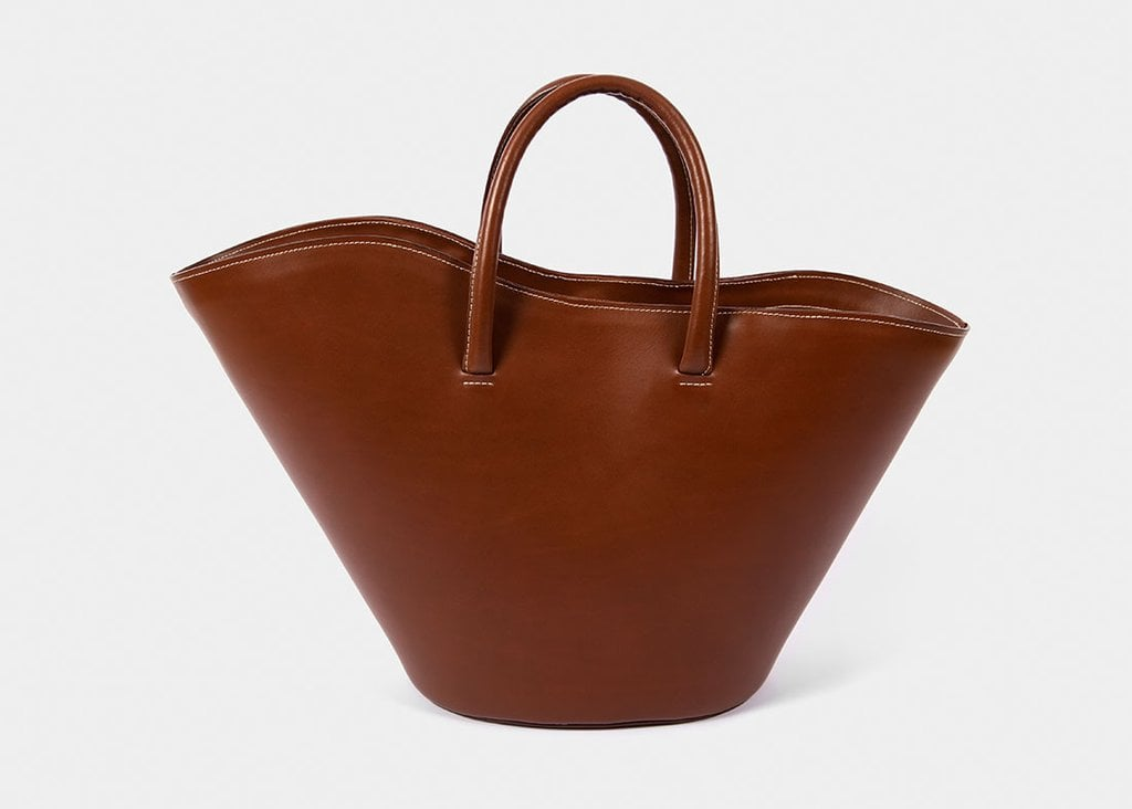 Little Liffner Open Tulip Tote Medium in Chestnut
